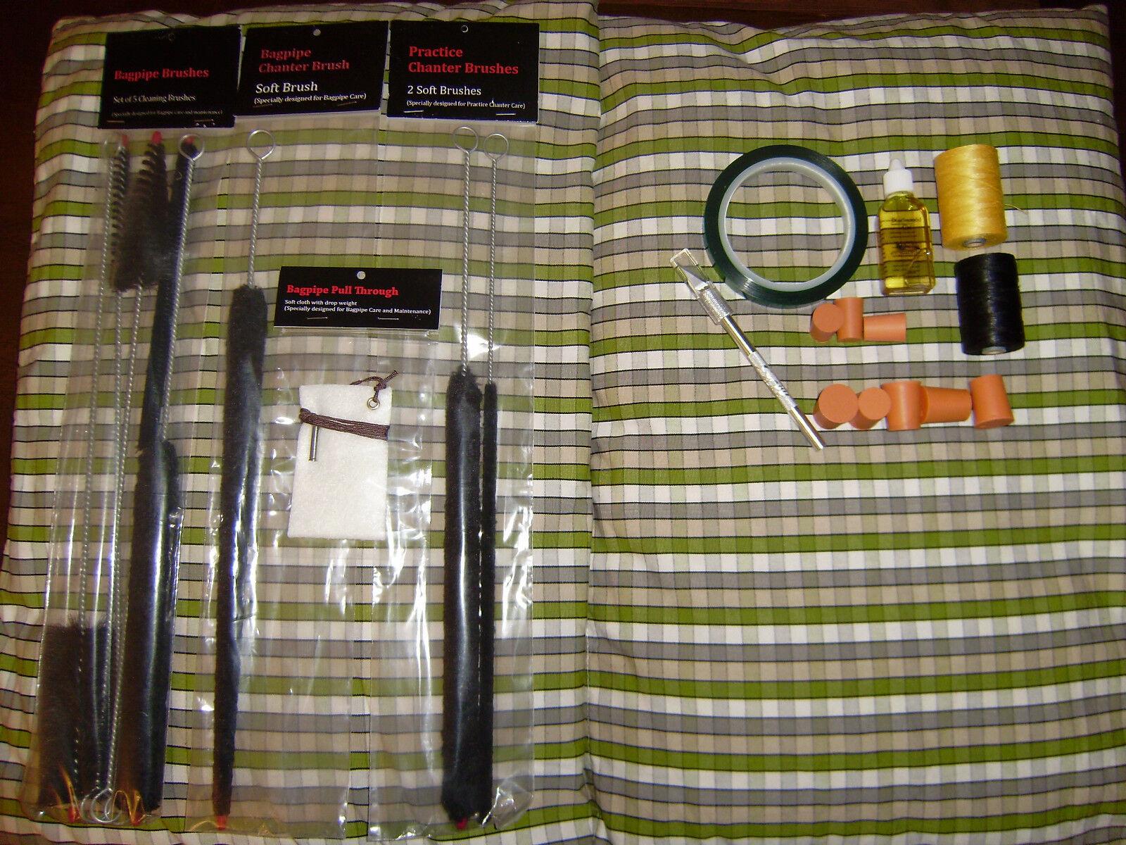 Bagpipe Maintenance Kit Various Choices Hemp Tape Tape Tape Brushes Tutor Book etc 3f2766
