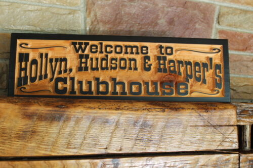Personalized Carved Wood Sign Rustic Home Bar Decor Pub Man Cave  Bar and Grill