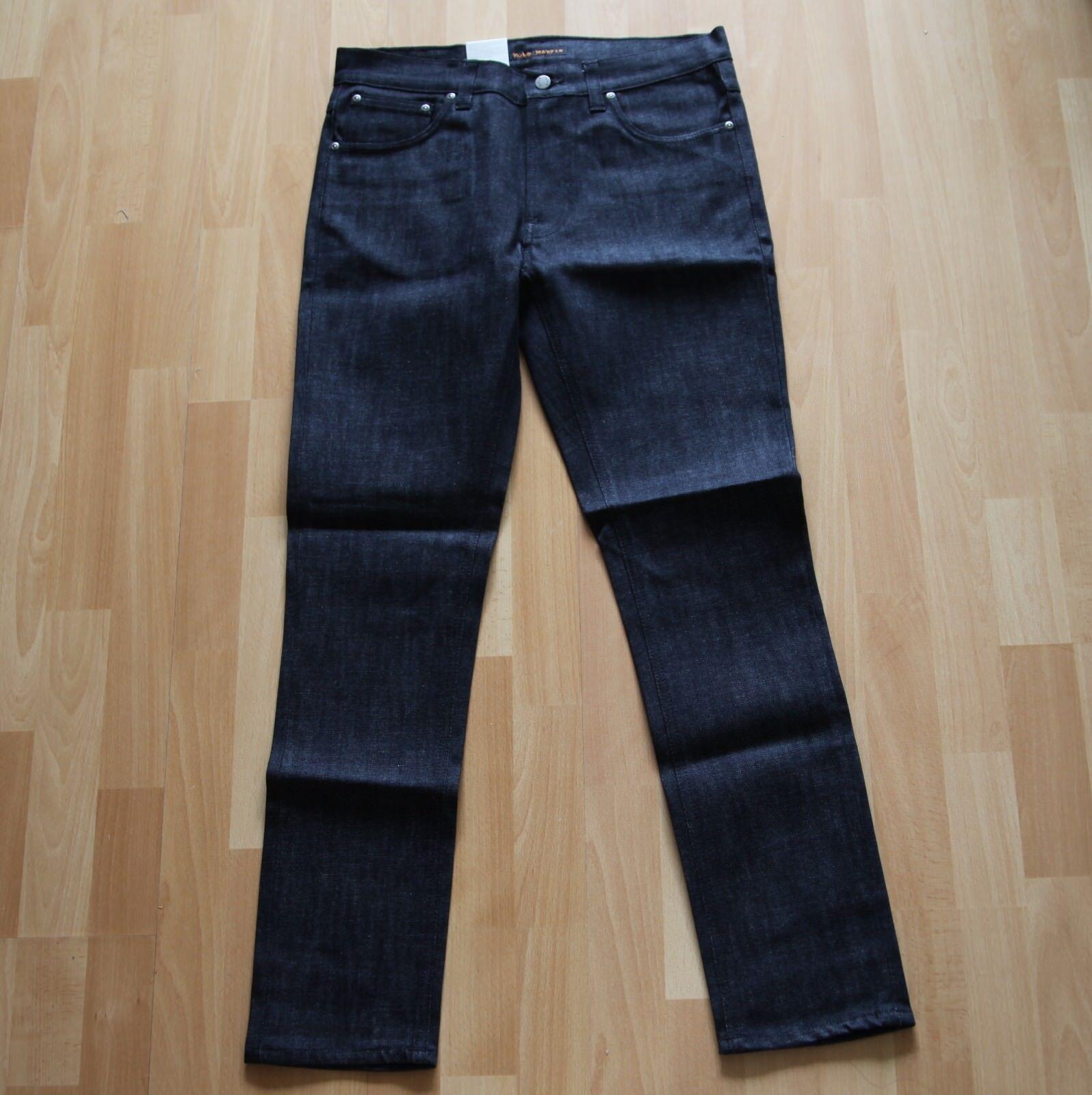 NEU Nudie Jeans Lean Dean (Carrot Shape) Dry Deep Dark Comfort 30 30