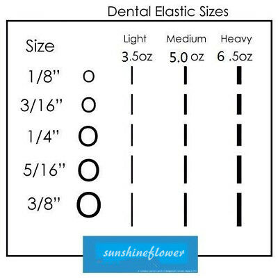 New Dental Orthodontic Rubber Bands Elastics Latex Braces 15 Sizes