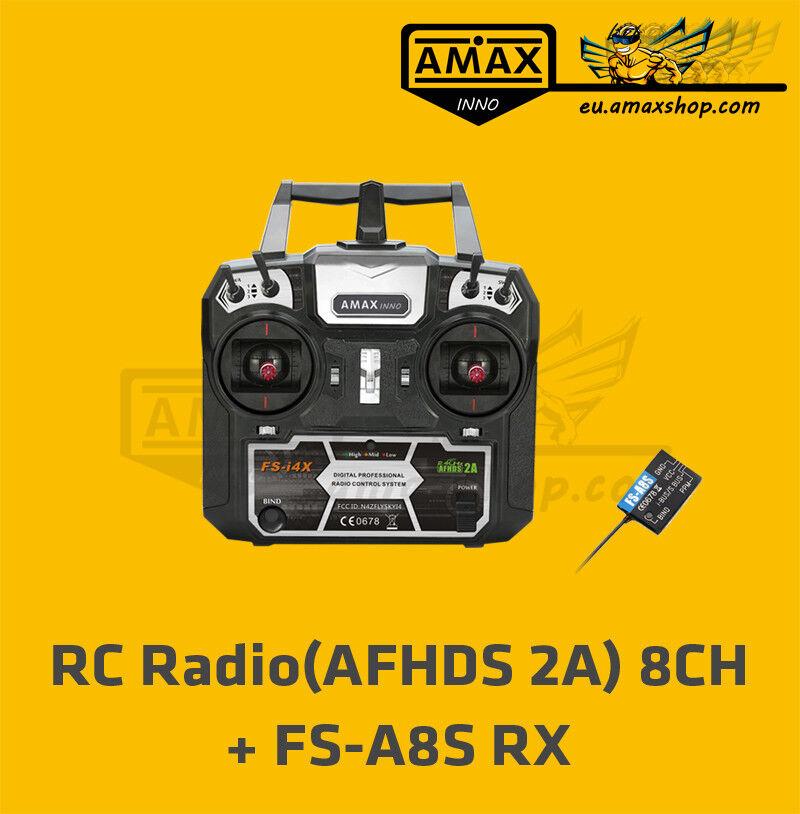 Flysky amaxinno 8ch 2,4ghz control remoto i4x + receptor afhds 2a ppm ibus TX RX