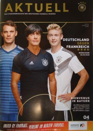 Frankreich France Programm Nations League 6.9.2018 Deutschland Germany