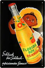 Blechschild Florida Boy Limonade Orange Retro geprägt 20x30 Reklame Vintage 150