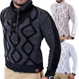 Das Bild wird geladen Tazzio-Herren-Pullover-Grobstrick-Pulli-Shirt- Strickjacke-Sweat- 77a5599955