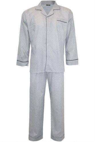 Homme rayures points devant col traditionnel Nuit Dormir Suit Pyjama Pj Co-Ord Set