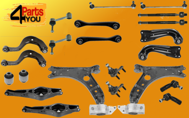 full KIT SET front rear SUSPENSION BALL JOINT ARMS WISHBONE LINKS VW TOURAN  1T1