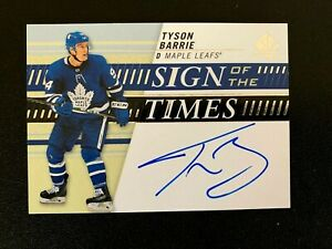 2019-20 SP Authentic Sign of the Times #SOTTBA Tyson Barrie F