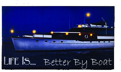LIGHTED NAUTICAL RED LANTERN Sailboat Ship Starfish Beach Home Decor Sign NEW