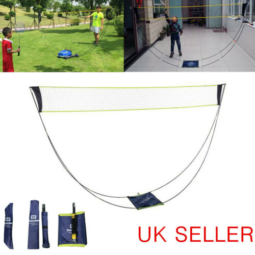 Portable Badminton Net Set Tennis Volleyball Net Carrying Bag 3M Garden Outdoor