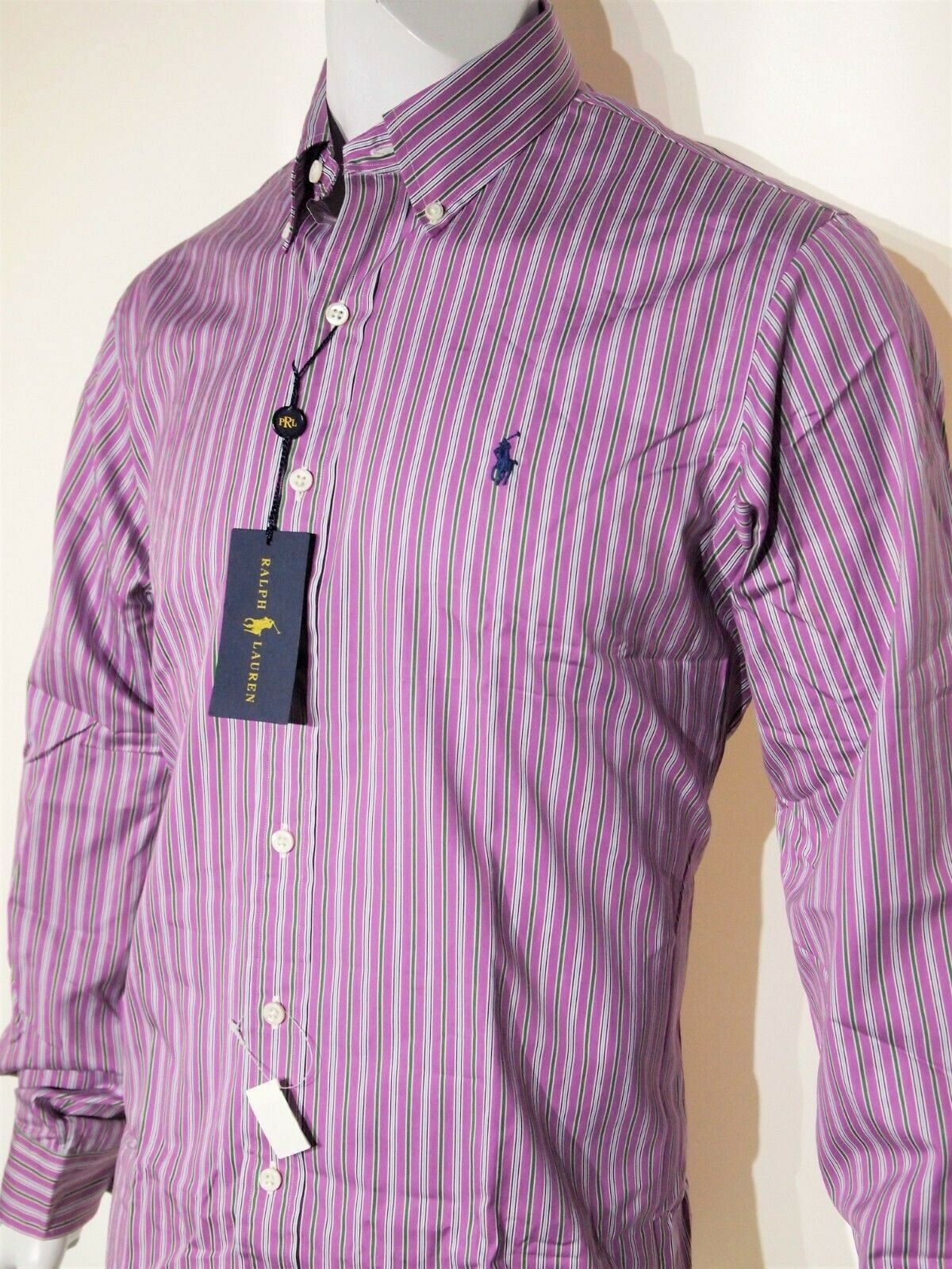 050ff4692 Polo Lauren size multi striped shirt regular fit Ralph small nnqpiv5646-Casual  Button-Down Shirts