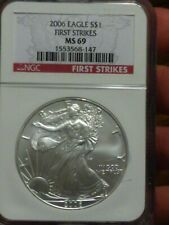 2006 Silver Eagle Dollar Ms 69 Pcgs
