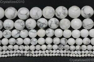 Natural-White-Turquoise-Gemstone-Faceted-Round-Beads-4mm-6mm-8mm-10mm-12mm-15