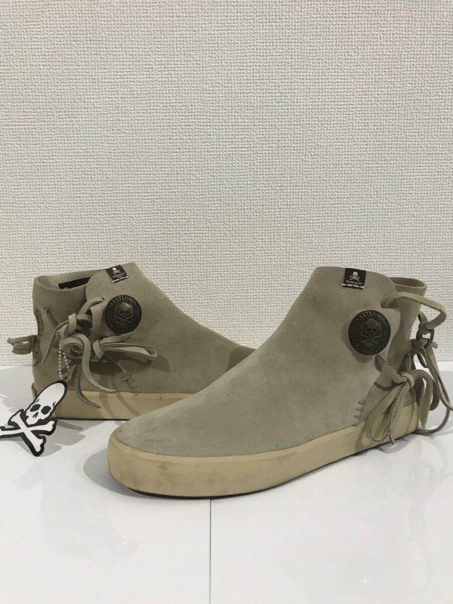 Mastermind Japan × visvim Gila Moc Concho Zapatos botas De Cuero Gamuza botón US9.5