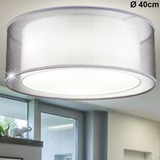Design Decken Strahler Esszimmer Leuchte Küchen Textil Schirm rund Lampe grau