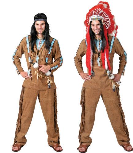 Herren Karneval Fasching Verkleidung Indianer Lachender Wolf Herrenkostüm NEU