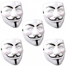 5x V wie Vendetta Maske Karneval Kostüm Halloween Fawkes Anonymous Occupy Fawkes