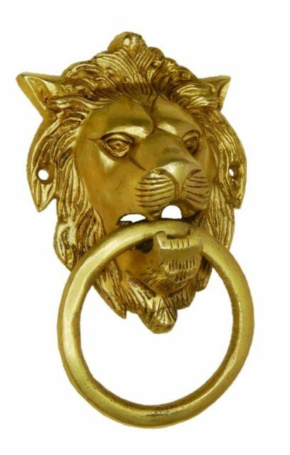 Lion King Shape Doorbell Antique Vintage Finish Brass Handcrafted Door Knocker