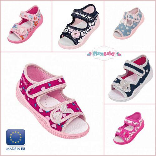 Sandali per Ragazze Estate Scarpe Primavera Bambino Kids tela soletta in pelle misura 2–8
