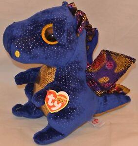 Image is loading Ty-Beanie-Boos-SAFFIRE-the-Blue-Dragon-Medium- 402c5657a46