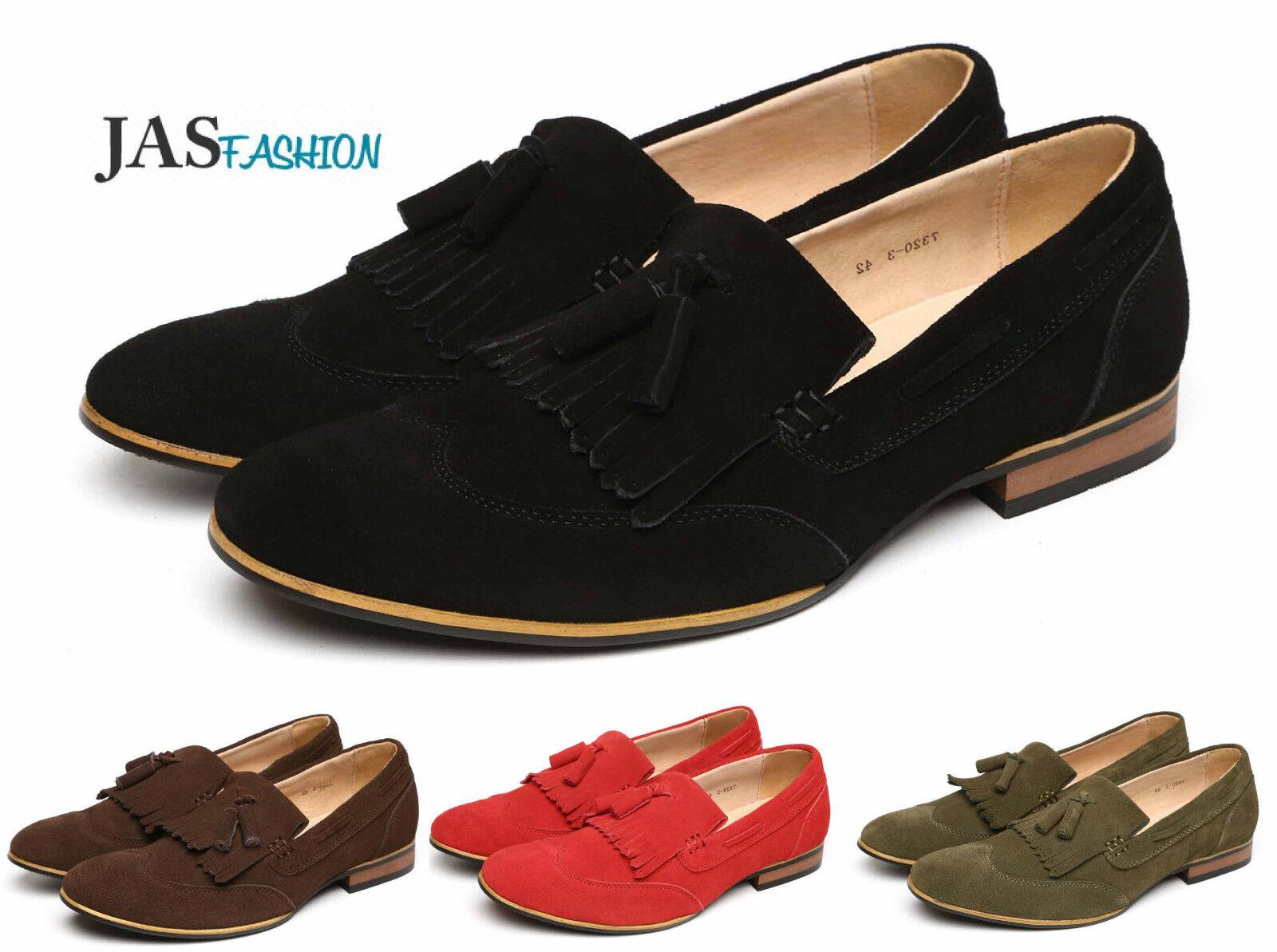promo code b4564 afe62 Uomo leather mocassini scarpe scarpe scarpe in pelle scamosciata Designer  Casual Con Nappa Mocassini punta ali