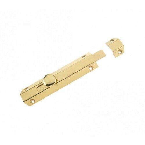 Traditional Surface Door Slide Shoot Tower Bolt Polished Brass Bathroom Lock