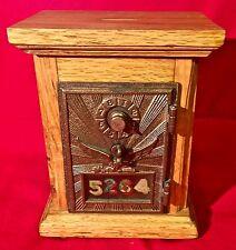 Vintage Post Office Box Door Bank Raised Eagle Combination Lock RD 0497