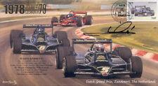 1978 LOTUS-COSWORTH 79 & BRABHAM-ALFA ROMEO F1 cover signed MARIO ANDRETTI