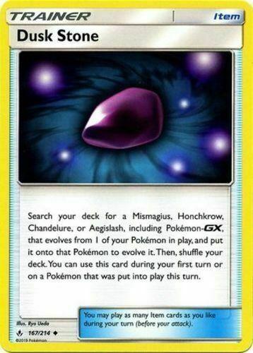 167//214 x4 4 cards Pokemon Unbroken Bonds Dusk Stone