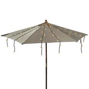 Hampton Bay Solar Led Umbrella String Lights 150 Lights For Sale