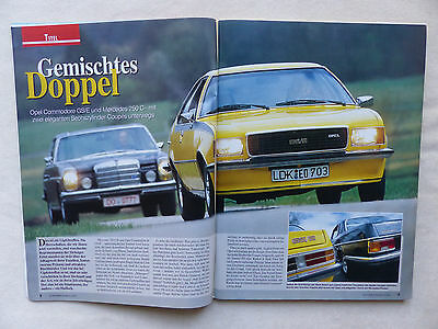 Titelstory Opel Commodore Gs/e & Mercedes 250 C Oldtimer Markt Heft 6/2001