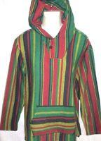 Mens Pacsun Rasta Poncho Hoodie Sweatshirt Size M
