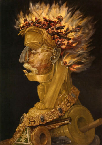 Fire by Arcimboldo print on 230gsm photo quality paper choose size