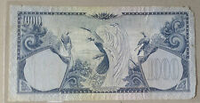 Old Collection>1959 Indonesia 1000 rupiah Birds series very nice!scare?