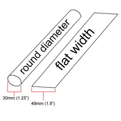 """10 feet inch//ft//to 30mm 1.25/"""" ID Clear Heat Shrink Tube 2:1 ratio 1-1//4/"""" wrap"""