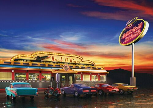 AMERICAN DINER POSTER Retro Chevy Wall Art Print Picture Photo 18x13/'/'