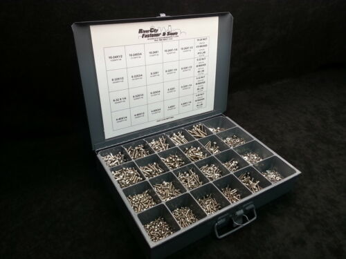 Phillip Pan Head Machine Screw Stainless Steel  Assortment Nuts Washers Tray