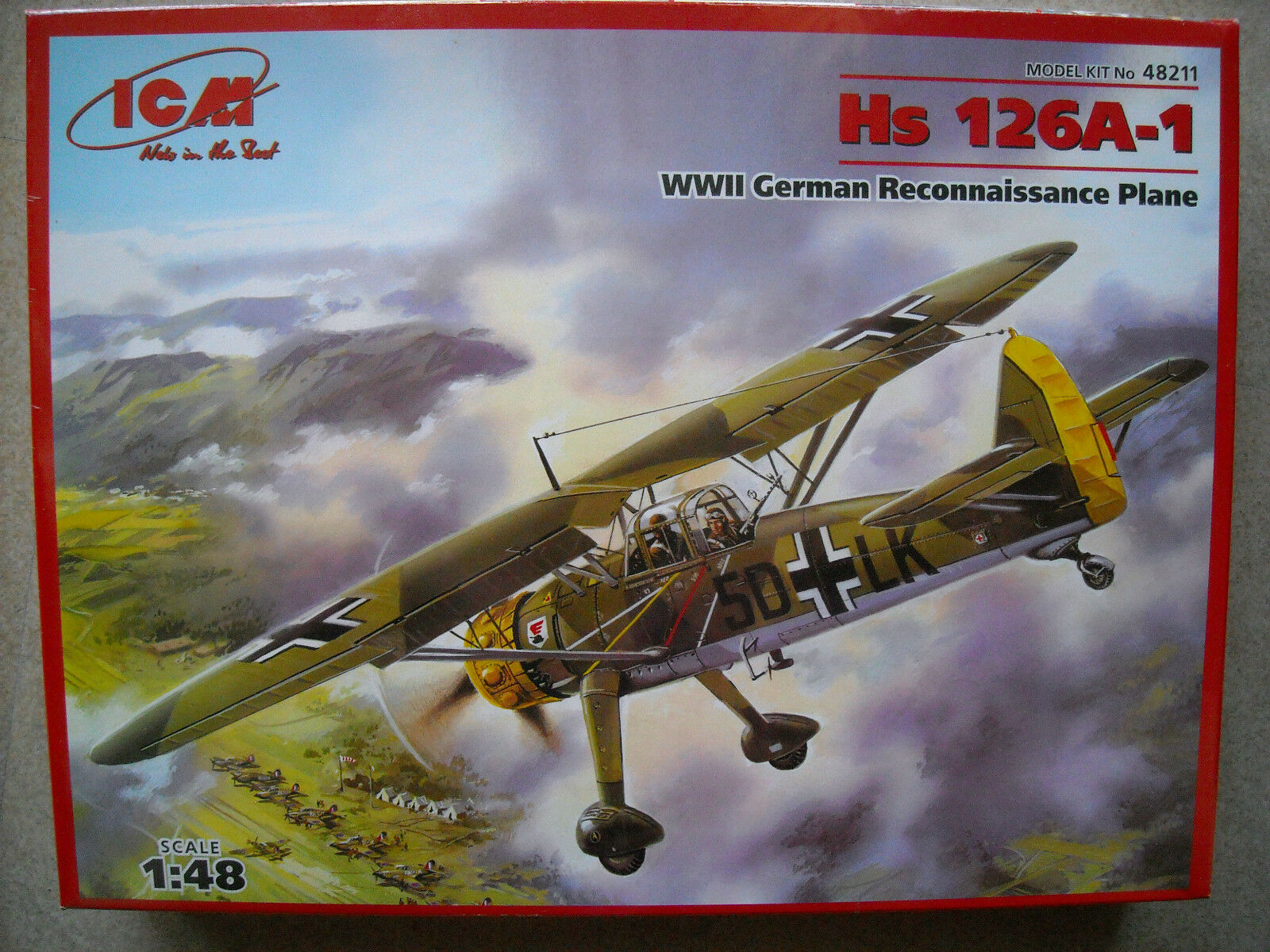 ICM 1 48 Hs 126A-1 WWII German Recon Plane