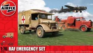 Airfix-Raf-Emergency-Set-Campo-D-039-Aviazione-D-039-Pompieri-Ambulanza-1-76-72-Kit