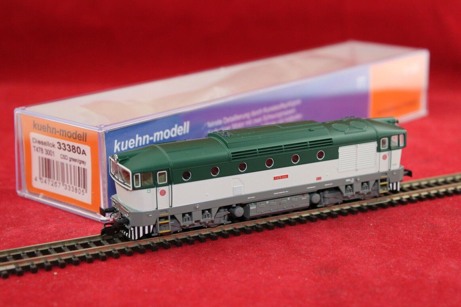 Kuehn 33380 traccia TT CSD Diesel T 478 3001 verde Grigio DSS + Luce di cambio scatola originale NUOVO