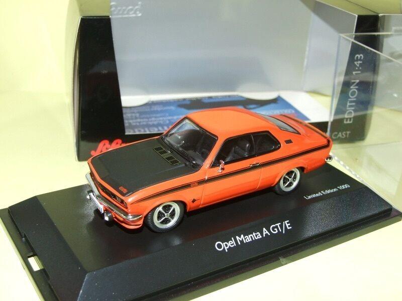 OPEL MANTA A GT E orange & black SCHUCO 1 43