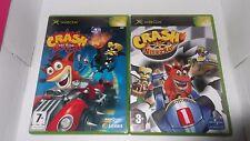 LOT: Crash Nitro Kar & Crash Tag Team Racing -  Xbox - Complet -  PAL FR