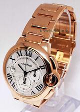 Cartier Ballon Bleu 18k Rose Gold XL Chronograph Watch & Box W6920010