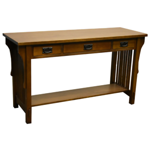 Details About Mission 3 Drawer Crofter Style Console Table