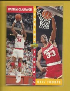 Hakeem-Olajuwon-1992-93-Upper-Deck-Scoring-Threats-Card-501-Houston-Rockets