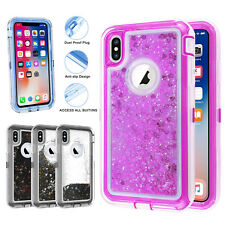 Waterfall Glitter Liquid Quicksand Hybrid Shockproof Case for iPhone XS MAX XR X