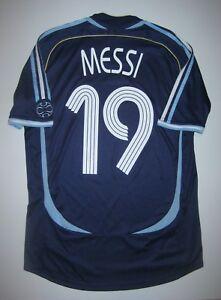 8af393ccb8b 2006-2008 World Cup Adidas Argentina Lionel Messi  19 Kit Shirt ...