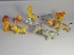 12-x-Animal-Keyrings-Keychains-Ideal-Party-Bag-Fillers