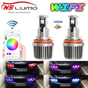 WIFI Control Led Marker Angel Eyes Halo Ring RGB Color-Change FOR BMW E92 E93 H8