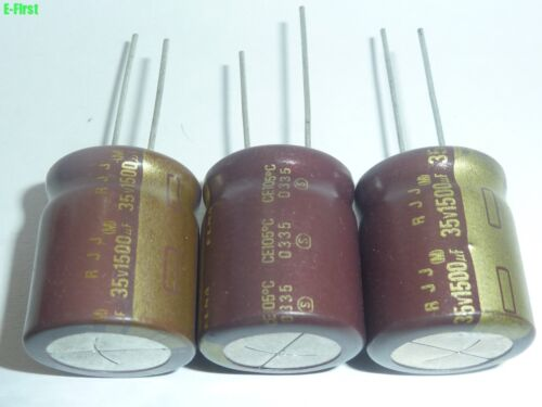 5pcs 35V1500UF RJJ 18X20 ELNA High-Frequency Low Impedance standard capacitor