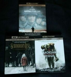 SAVING-PRIVATE-RYAN-SCHINDLER-039-S-LIST-HACKSAW-RIDGE-4K-Blu-ray-4K-WWII-Film
